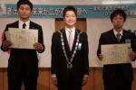 褒賞授賞式 優秀新人賞 佐久間悠治君(左)、佐藤研一君(右)
